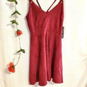 NWT Design Lab burgundy dress, Sz XS